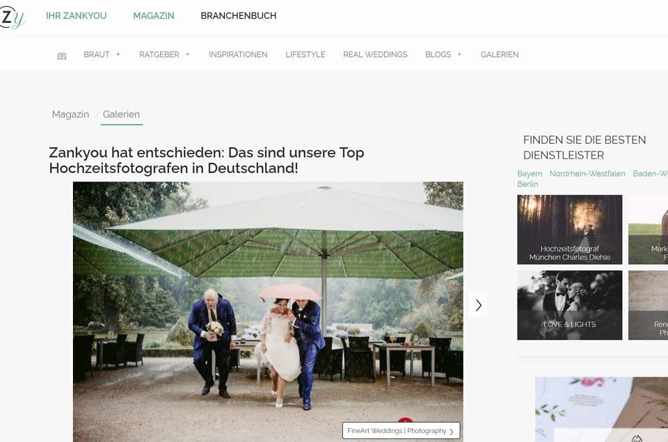 FineArt Weddings gehört zu den besten Hochzeitsfotografen aus Deutschland