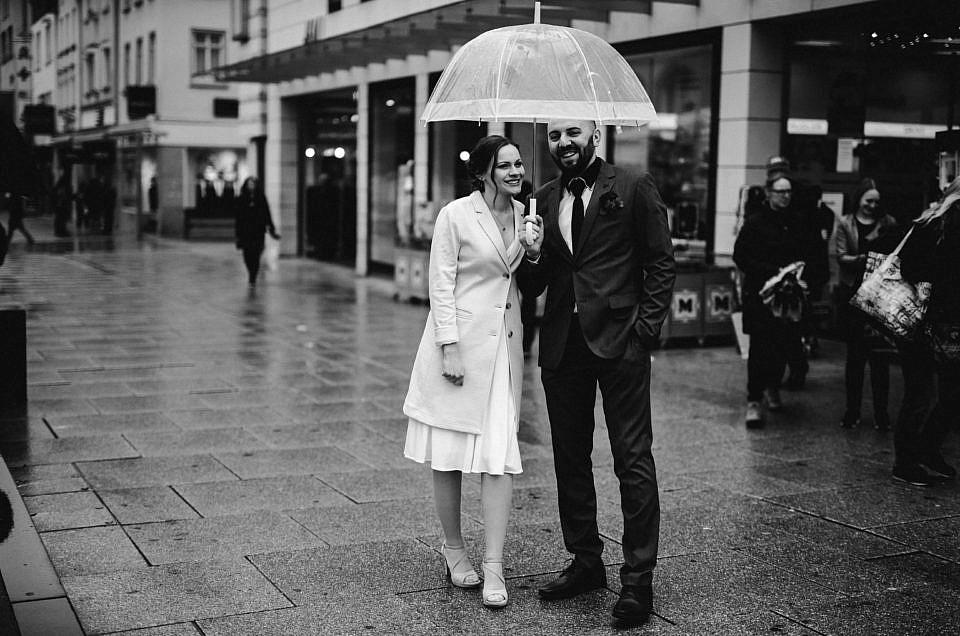 Regenhochzeit in Göppingen