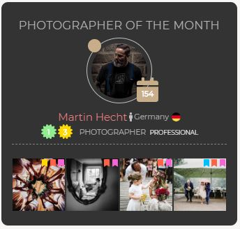 ProWed Award Photographer of the Month